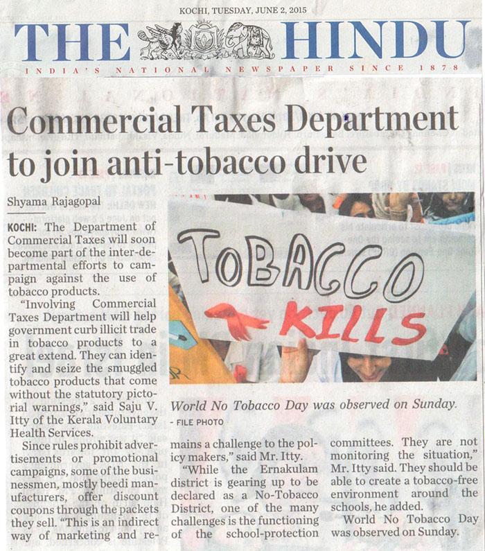 Smoke Free Kerala Kerala Voluntary Health Services Tobacco Free